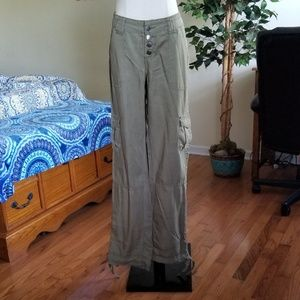 convertible khaki cargo pocket pants size 7